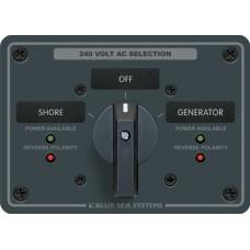 AC kaynak seçme paneli