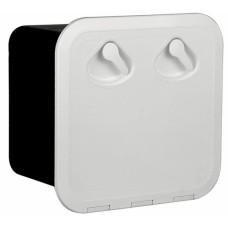 Plastik dolap. Beyaz. 180° açılabilir.