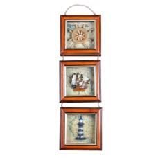 Üçlü dekoratif duvar panosu