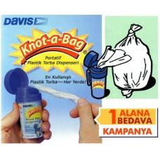 Davis portatif, plastik kutulu torba dispenseri